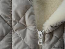 Textil - Deka DANIEL 100% merino Top Super wash ELEGANT 2 v 1 pastelová piesková - 8507263_