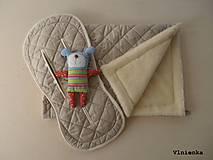 Textil - Deka DANIEL 100% merino Top Super wash ELEGANT 2 v 1 pastelová piesková - 8507264_