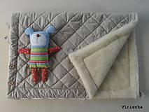 Textil - Deka DANIEL 100% merino Top Super wash ELEGANT 2 v 1 pastelová piesková - 8507265_