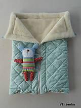 Textil - Deka DANIEL 100% merino Top Super wash ELEGANT 2 v 1 MINT mentolová - 8507321_