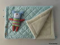 Textil - Deka DANIEL 100% merino Top Super wash ELEGANT 2 v 1 MINT mentolová - 8507323_