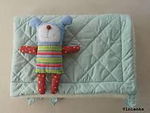 Textil - Deka DANIEL 100% merino Top Super wash ELEGANT 2 v 1 MINT mentolová - 8507325_