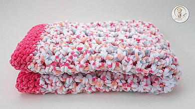 Textil - Háčkovaná detská deka - 8506353_