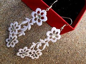 Náušnice - svadobné čipkové náušnice 2 - 8507226_