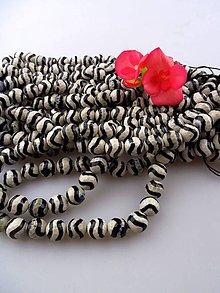 Minerály - achát zebra Tibet 10mm korálky - 8508977_