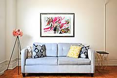 """Obrazy - Akvarelová koláž """"Tango pátos"""" - zľava zo 160 € - 8505888_"""