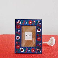 Rámiky - Folkový rámček Modrý - 8508753_