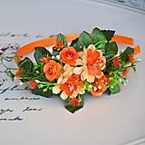Ozdoby do vlasov - Čelenka oranžová - 8509493_