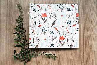 Papiernictvo - Fotoalbum klasický, polyetylénový obal s potlačou kvetín - 8506102_