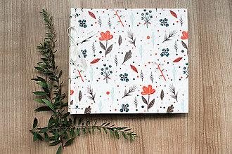 Papiernictvo - Fotoalbum klasický, polyetylénový obal s potlačou kvetín (dočasne nedostupné) - 8506102_