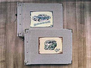 Papiernictvo - Fotoalbum klasický, plátený obal s nažehlením motívom podľa želania - 8508961_