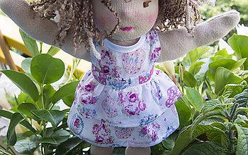 Hračky - Ružové šaty s volánikmi - 8508393_