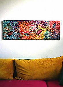Obrazy - Radosť - obraz maľovaný akrylom - 8507246_
