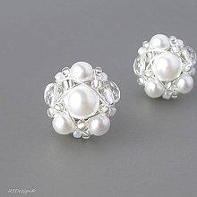 Náušnice - Náušničky ♥ WHITE WEDDING ♥ - 8506823_
