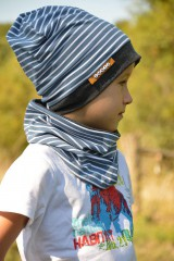 Detské súpravy - Bavlnený set s menom prúžky & modrá - 8506153_