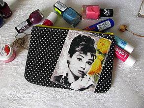 Taštičky - Taštička na mobil - Audrey s růžemi - 8508313_