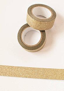 Papier - WASHI / glitrovaná páska na tvorenie