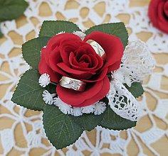 Dekorácie - salka na svadobne obrucky - zlava - 8509396_
