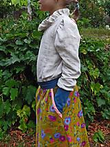 """Detské oblečenie - menčestrová sukňa dlhá """"Jesenná"""" - 8506915_"""