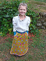 """Detské oblečenie - menčestrová sukňa dlhá """"Jesenná"""" - 8506919_"""
