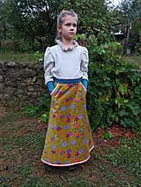 """Detské oblečenie - menčestrová sukňa dlhá """"Jesenná"""" - 8506975_"""