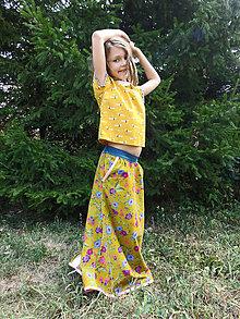 Detské oblečenie - menčestrová sukňa dlhá