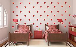 Dekorácie - Nálepky na stenu - Trojuholníky 5 x 5 cm - 88 ks (Azúrovo modrá) - 8507566_
