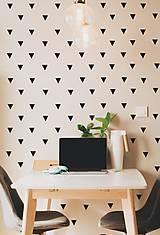 Dekorácie - Nálepky na stenu - Trojuholníky 5 x 5 cm - 88 ks (Azúrovo modrá) - 8507567_