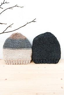 Doplnky - pánska čiapka... 100% prírodná... alpaka/vlna - 8510084_