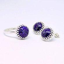 Sady šperkov - Classic Lapis Lazuli Earrings & Ring Silver Ag 925 Set / Strieborná sada náušníc a prsteňa s lazuritom /0512 - 8509953_