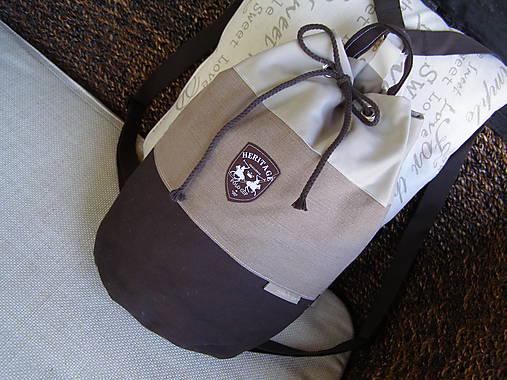 49e44d0daa Ruksak hnedobežový   jamilla - SAShE.sk - Handmade Batohy