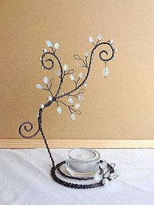 Svietidlá a sviečky - cukrová inovať...vintage svietnik - 8511291_