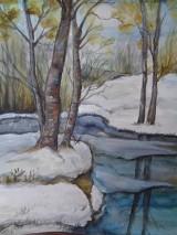 Obrazy - Prvý sneh... (akvarel) - 8510537_