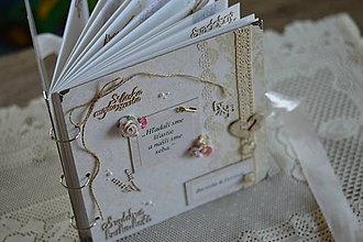 Papiernictvo - Svadobná kniha hostí - 8511900_