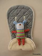 Textil - Bugaboo Seat Liner GREY fabric/ Podložka do kočíka pastelová sivá šedá Elegant prešitie na mieru - 8509989_