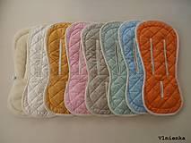 Textil - Bugaboo Seat Liner GREY fabric/ Podložka do kočíka pastelová sivá šedá Elegant prešitie na mieru - 8510008_