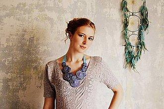 Náhrdelníky - Lavender Ice Cream - sutaškový náhrdelník - 8510756_
