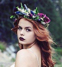 """Ozdoby do vlasov - Kvetinový venček """"Kráľovná kvetov"""" - 8510196_"""