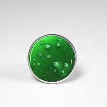 Prstene - Hviezdna hmlovina - autorský prsteň zelený - 8509652_