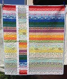 Úžitkový textil - dúhová quilt deka - 8510303_
