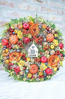 Dekorácie - Jesenný veniec - 8511487_