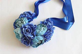 Ozdoby do vlasov - Parta v modrom - 8510263_