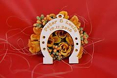 Darčeky pre svadobčanov - Svadobná podkovička pre šťastie 2 - 8510334_