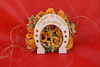 Darčeky pre svadobčanov - Svadobná podkovička pre šťastie 1 - 8510335_