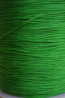 Galantéria - Šnúrka nylon zelená 1mm, 0.11€/meter - 8510569_