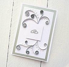 Papiernictvo - svadobná pohľadnica - 8510659_