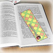 Papiernictvo - Záložka do knihy s menom a fotkou 13 (čistá) - 8511178_