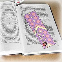 Papiernictvo - Záložka do knihy s menom a fotkou 14 (čistá) - 8511181_