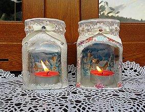 Svietidlá a sviečky - Zasnežená krajinka - 8513707_