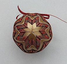 Dekorácie - Vianočná guľa - 7,5 cm - 8513992_